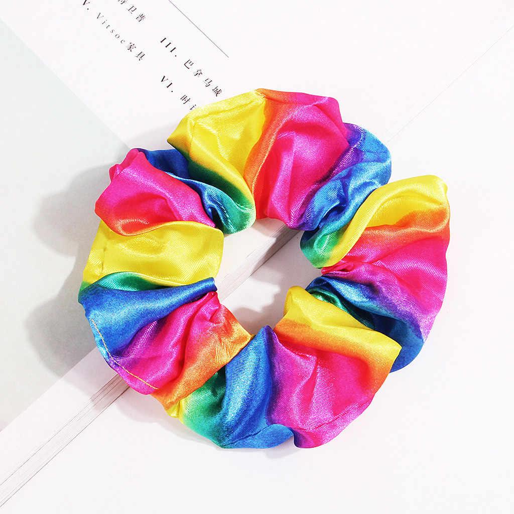 แฟชั่นผ้า Hairband พิมพ์โบว์โบว์ผู้หญิงแหวนผม Hoop แถบคาดศีรษะแฟชั่นผ้าแหวนสายรุ้งดอกไม้ขนาดใหญ่ 2020