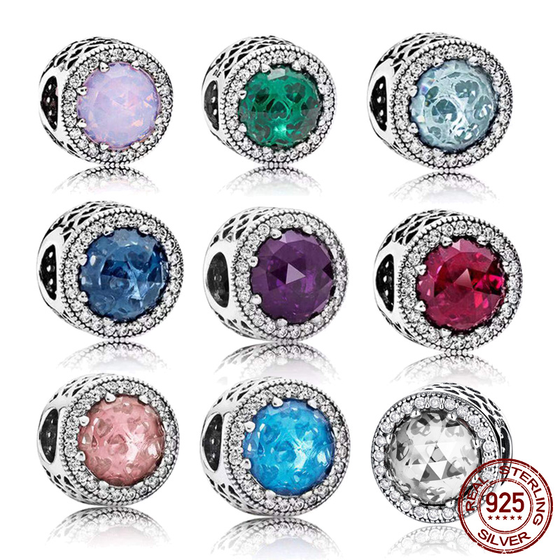 925 Sterling Silver pandora beads fit Pandora bracelet DIY pendant pandora charms silver 925 original(China)