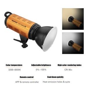Image 3 - NiceFoto LED 1500AII 2000AII 150W 200W LED Light Lamp 3200 6500K Daylight Video Studio Light with LCD Display APP Control