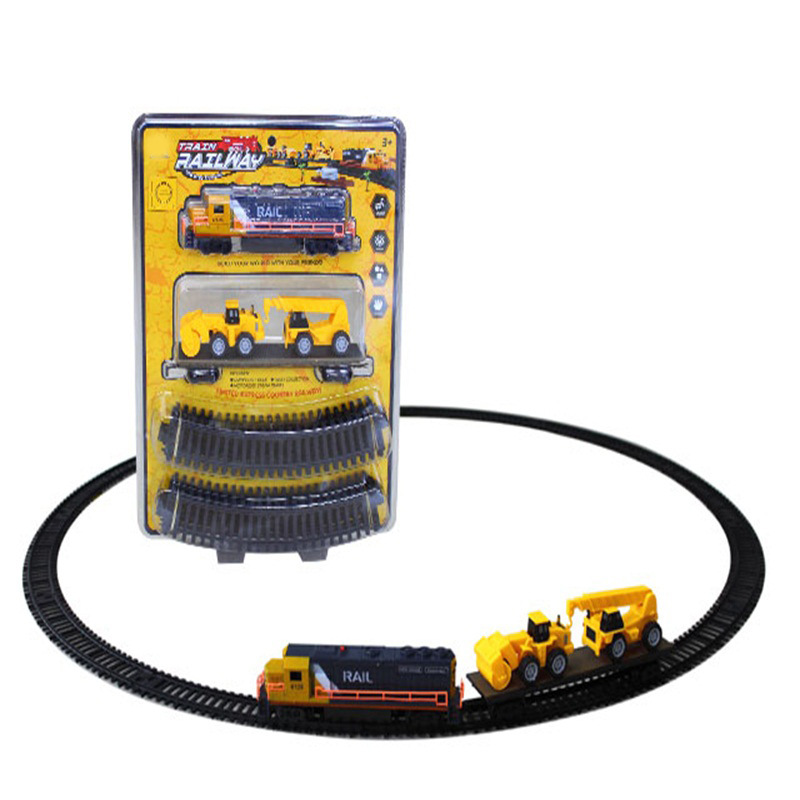 Children Electric Camera Track Engineering Train Toy Model Assembled Electric Camera Track Car Model Educational Toy