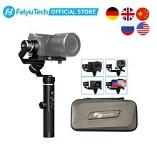 FeiyuTech G6 Plus 3 Axis يده مثبت Gimbal للهواتف الذكية Gopro بطل 7 6 5 سوني RX0 سامسونج s8 800g الحمولة Feiyu G6P