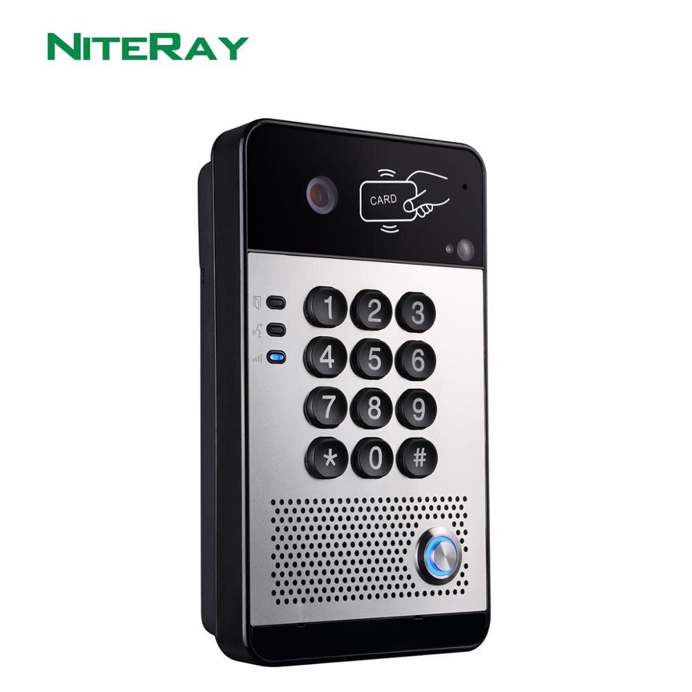 Nuevo Video SIP sistema de intercomunicación control de acceso de puerta Audio SIP Teléfono de puerta para Hotel/apartamento/Oficina de fábrica teléfono Multimedia