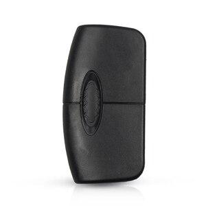 Image 5 - Keyyou 433mhz 4d63 chip 3 botões flip dobrável chave de controle remoto para ford focus fiesta 2013 fob caso com hu101 lâmina