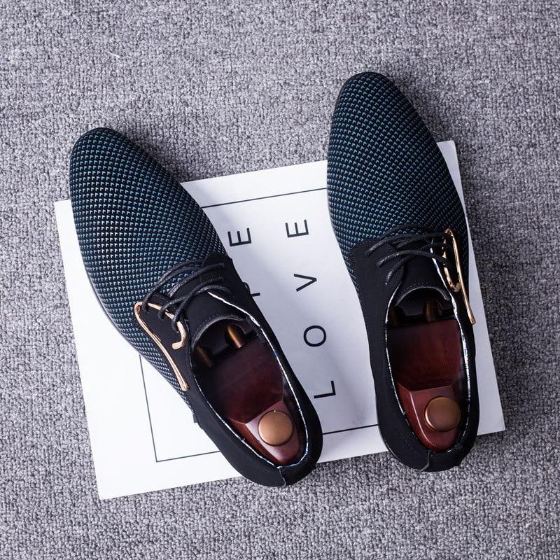 Discount–Shoes Men Footwear Plus-Size Wedding-Flats Male Mocassin Business Rubber Formal Homme