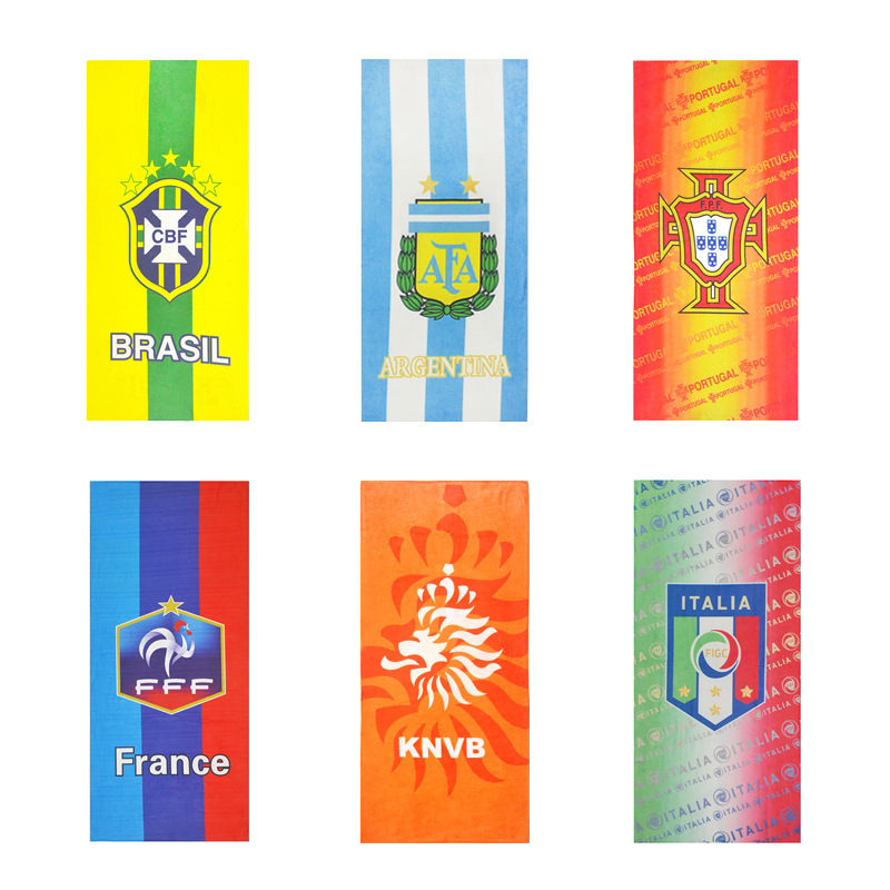 2020 European Cup World Cup Brazil Real Madrid Spain Arsenal Argentina Portugal Germany Microfiber Towel