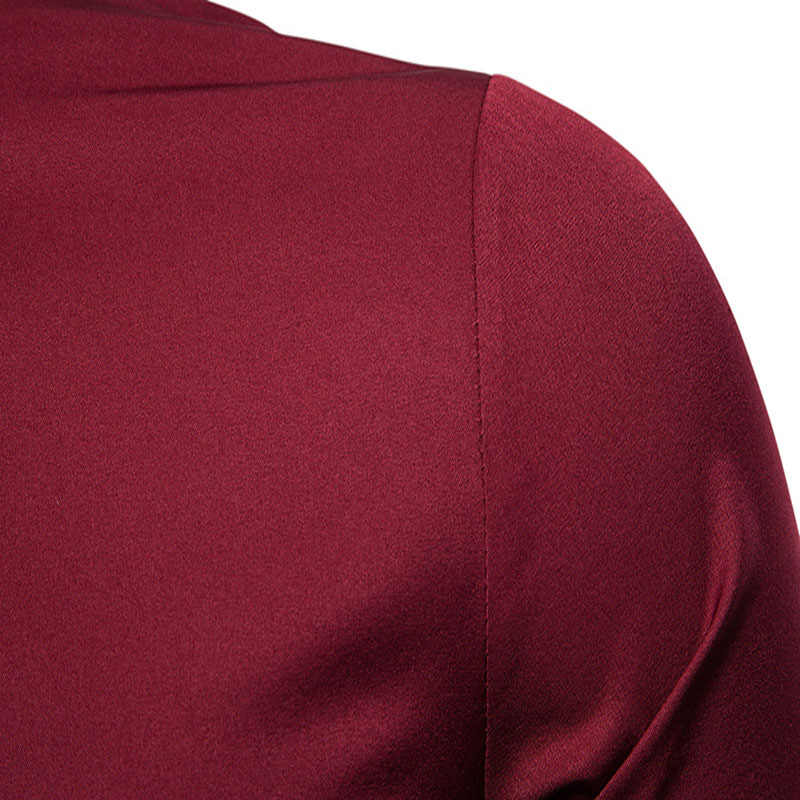 Camisa bordada de oro para hombre 2019 otoño camisas de vestir para hombre Camisas casuales de manga larga ajustada Chemise Homme Camisa Masculina