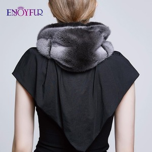 Image 4 - ENJOYFUR 100% Genuine Mink Fur Hats for women Winter Scarf Hat Fashion Elegant Warm Lady Caps New Fur Beanies