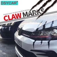 DSYCAR-pegatina de monstruo tira tipo arañazo para coche, 1 Uds., marcas de garra, calcomanía de los faros delanteros, estilo de coche, Blanco/Rojo/Negro, nuevo