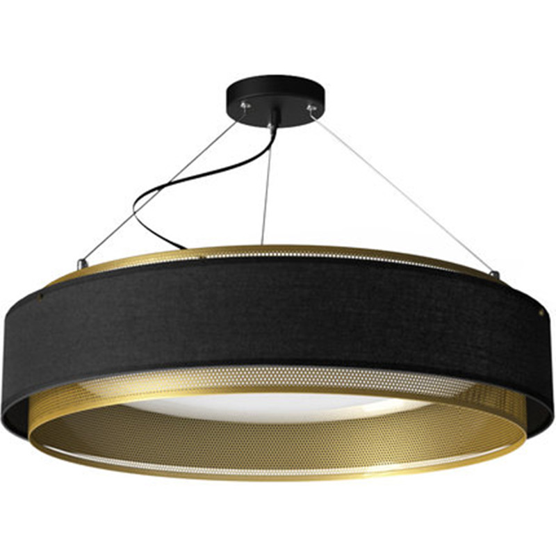 Industrial Style Fabric Copper Pendant Lights Creative Net Circle Dining Table Light Bedroom Restaurant Studio Light Fixtures