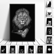 Animal Canvas Painting Mural Lion Elephant Leopard Poster and Printmaking Mural Living Room Decoration Home Decoration