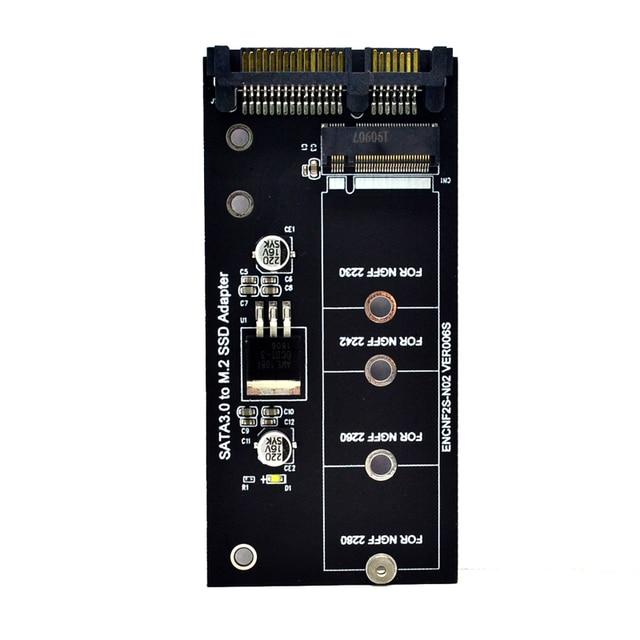 H1111Z Add On Card NGFF M.2 Adapter M2 SATA3 Raiser M.2 to SATA Adapter SSD M2 to SATA Expansion Card B Key Suppor 30/42/60/80mm 3