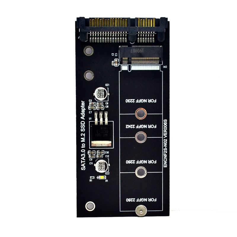 H1111Z に追加カード NGFF M.2 アダプタ M2 SATA3 調達者 M.2 に SATA アダプタ SSD M2 sata 拡張カード B キー Suppor 30/42/60/80 ミリメートル