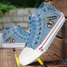 2021 Women Fashion Sneakers Denim Canvas Shoes Summer Casual Shoes Trainers Walking Skateboard Lace-up Shoes Femmes Flats Shoes