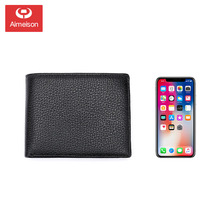 Cow Leather Men Short Wallet Casual Genuine Leather Male Wallet Purse Standard Card Holders Wallets For Men Coin Bag ASBD002