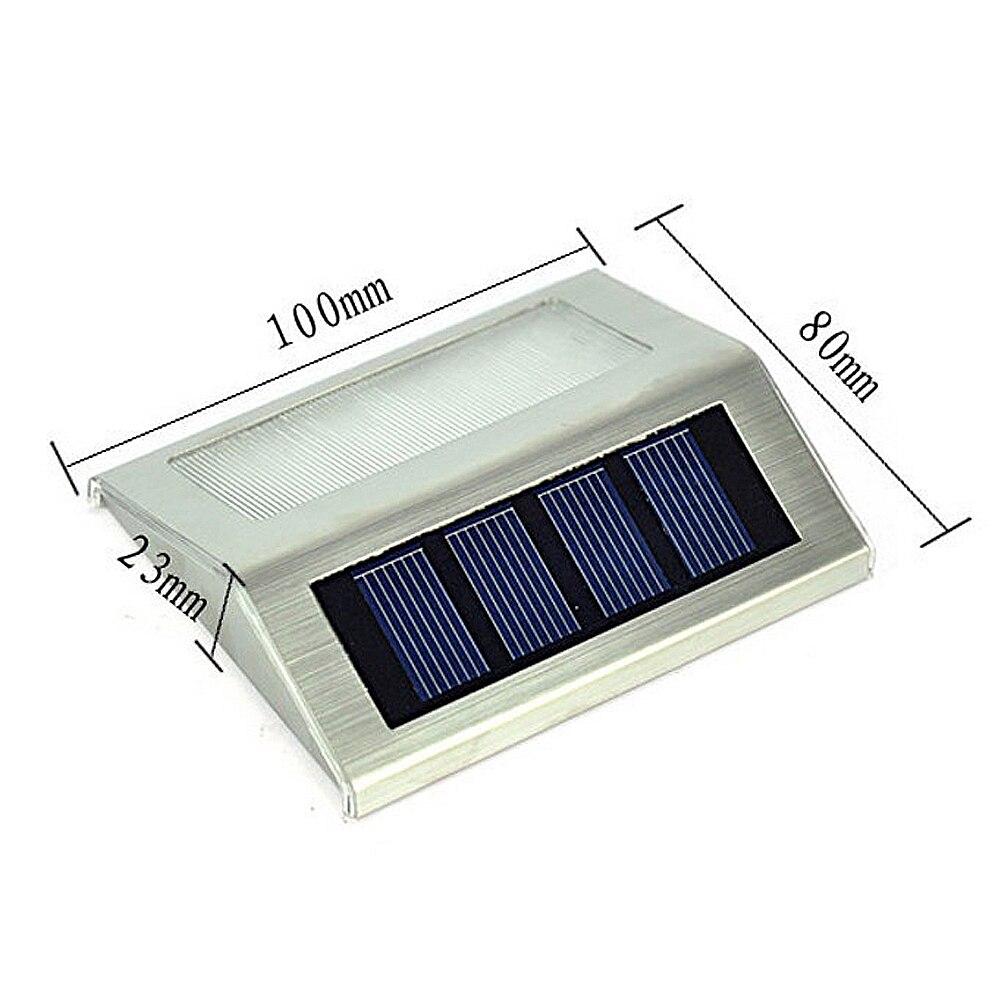 cheapest 1-4pcs 3 LEDs Solar Light Stainless Steel Solar Power Garden Light Waterproof Outdoor Energy Saving Courtyard Lamp Lighting