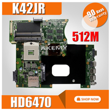K42JR Motherboard REV4.1 512 m HD6470 For Asus K42JZ K42JE k42JK Laptop motherboard K42JR Mainboard K42JR Motherboard test OK