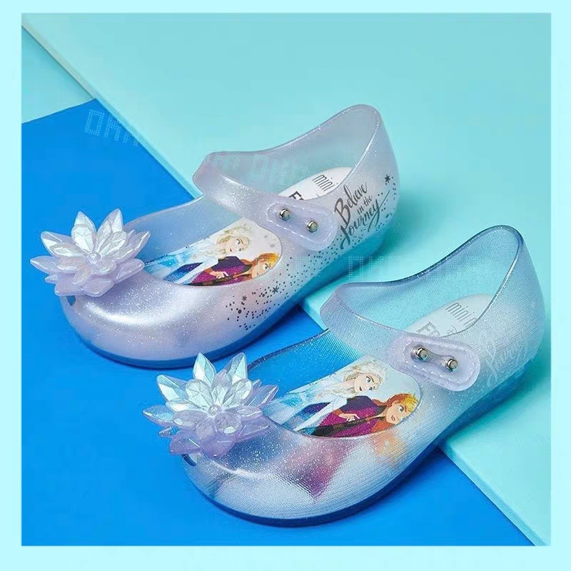 Mini Melissa Ultragirl 2020 Original Girl Jelly Sandals Butterfly Knot Kids Sandals Children Beach Shoes Non-slip Meliss