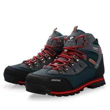 Men Hiking Shoes Trekking-Sneakers Fishing-Boots Sports-Trainers High-Top Outdoor Climbing