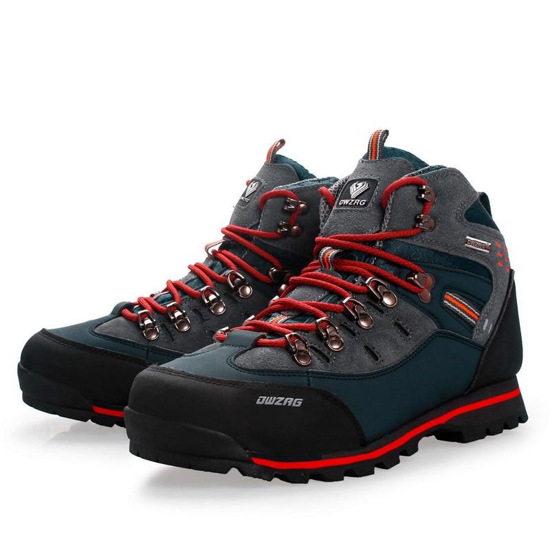 Men Hiking Shoes Waterproof Leather Shoes Climbing & Fishing Shoes New Outdoor Shoes Men High Top Winter Boots Trekking Sneaker