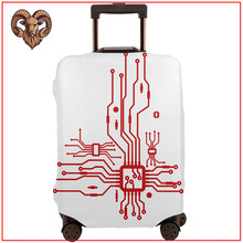 Cpu Heart Chip Heart Circuit Electrical Electronic 2020 new funny diy design travel accessories Protector Luggage Cover tag(China)