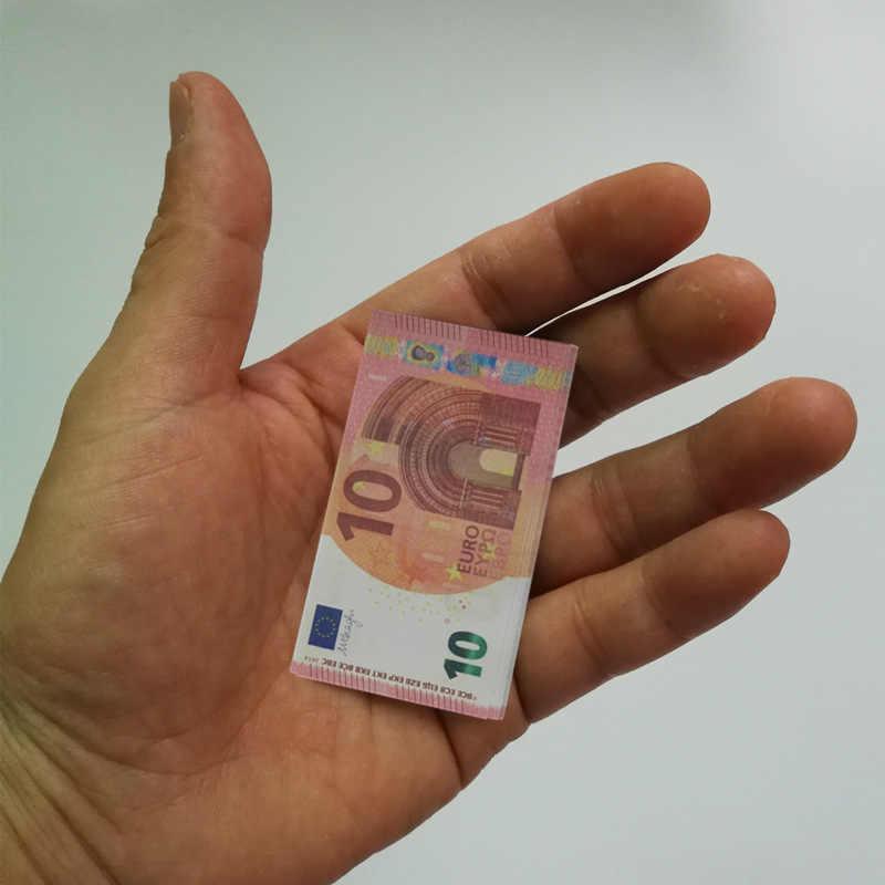 נייר אירו צעצועי שטרות 100 יח'\חבילה 100 EUR נייר זהב שטר עבור אוסף ומתנות האיחוד האירופי כסף מהודר קרפט