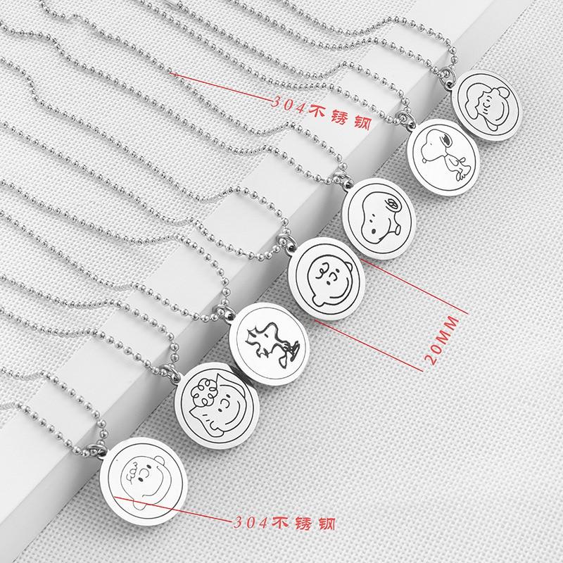 20MM Cartoon Head Titanium Steel Necklace Pendant Key Management