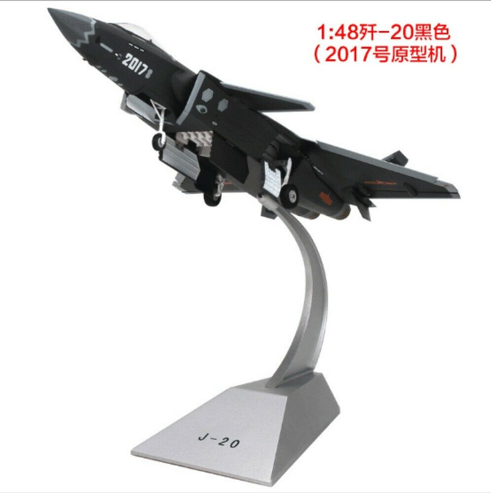 J20 Military Decoration <font><b>Aircraft</b></font> <font><b>Model</b></font> Toy Diecast <font><b>Aircraft</b></font> Plane <font><b>Model</b></font> Alloy kids toys 1/100 Scale AirlineToy image