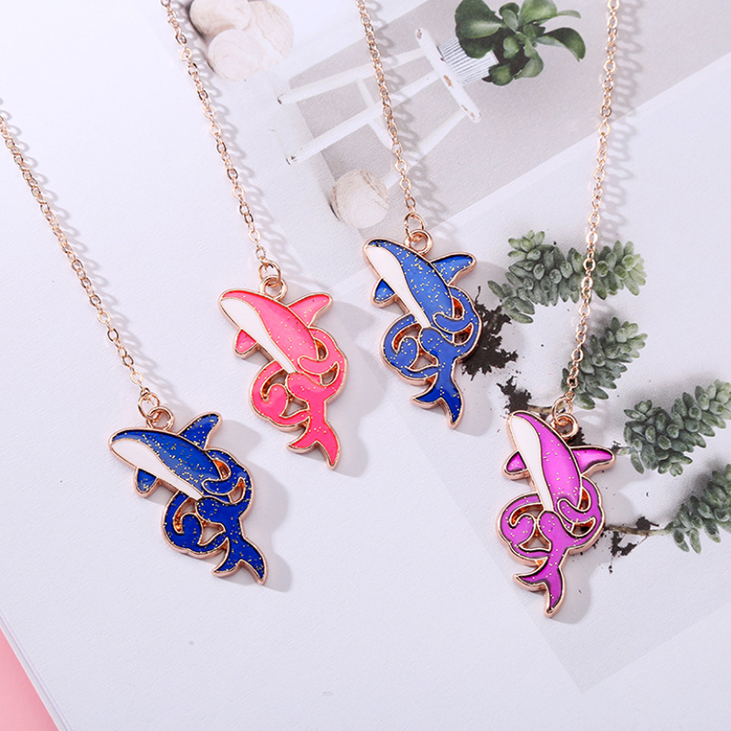 1pc Pendant Bookmark Stationery Office School Supplies Escolar Papelaria Kawaii Blue Whale Book Mark Student Metal Bookmark