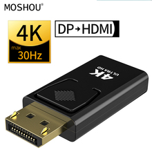 DP To HDMI Max 4K 30Hz Displayport Adapter Male To Female Cable Converter DisplayPort To HDMI Adapter For PC TV Projector MOSHOU ugreen 1080 4k 2k displayport dp male to hdmi female cable adapter display port converter for projector hp dell laptop