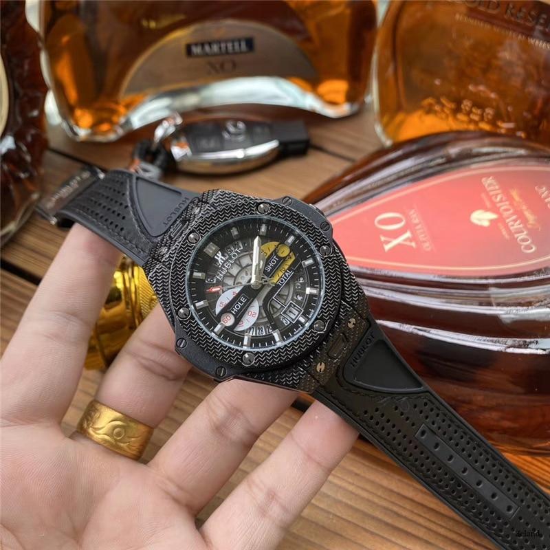 NEW HUBLOT Luxury Brand Quartz Mens Watches Quartz Watch Stainless Steel Strap  Men's Wristwatch Classic Business Dress  Watch
