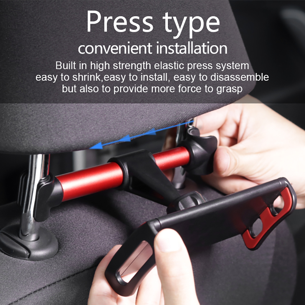 Universal 360° Rotation Car Headrest Mount Tablet Stand Holder 4-11 Inch Tablet PC Phone H Oler Seat Car Holder Accessories