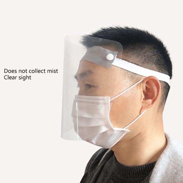 Portable light Transparent Anti-saliva Dust-proof Protect Full Face Covering Mask Visor Shield Protection Masks 4