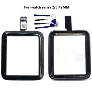 Для Apple Watch Series 2 3 4 5 38 мм 42 мм 40 мм 44 мм Сенсорный экран дигитайзер Стекло Замена + набор инструментов + закаленное стекло