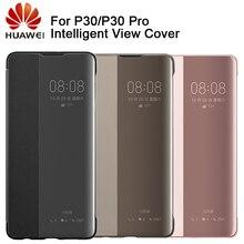 Huawei autentyczny inteligentny ochraniacz etui z klapką skórzany pokrowiec na telefon Huawei P30 Huawei P30 Pro