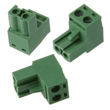 New 20 Sets AWG 12-24 300V 10A 5.08mm Pitch PCB Screw Terminal Block Connector Silver + Army Green(China)