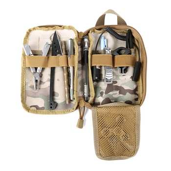 Military EDC Molle Pouch Tactical Waist Pack Organizer Utility Vest Bags Outdoor Equipment Tools Accessories Pouches Hunting Bag new tactical military hunting small utility pouch pack army molle cover scheme field sundries bags outdoor sports mess briefcase