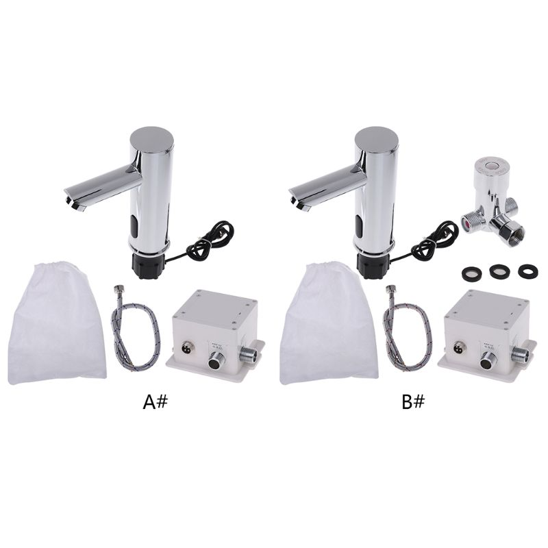 Bathroom Automatic Infrared Sensor Sink Faucet Touchless Basin Water Tap Deck Mounted 875F