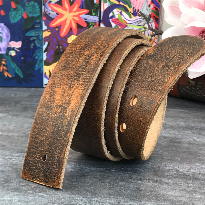 4.3CM Thick Retro Leather Belts Without Buckles Men Belt Ceinture Homme Mens Leather Belts Without Buckles Male Strap Wide SP08