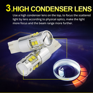 Image 4 - NAO W5W LED T10 5W5 3W 1000LM Super Bright Car Clearance Light LED Lamp for Auto 12V 6000K High Quality 194 White Amber 168 Blub