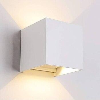 Lampara de pared aplique LED 3000K IP65 Blanco 10W