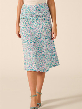 цена на High waist Women's Floral Print pleated Midi SKirt Holiday Wild Stylish Female Long Skirts clothing 2020 New Summer