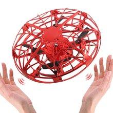 Мини летающий вертолет НЛО Радиоуправляемый Дрон ручной зондирующий самолет электронная модель Квадрокоптер flayaball игрушки маленький Дрон для детей