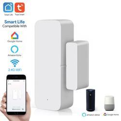Смарт-Датчик дверной магнитный с Wi-Fi, совместим с Alexa Google Home