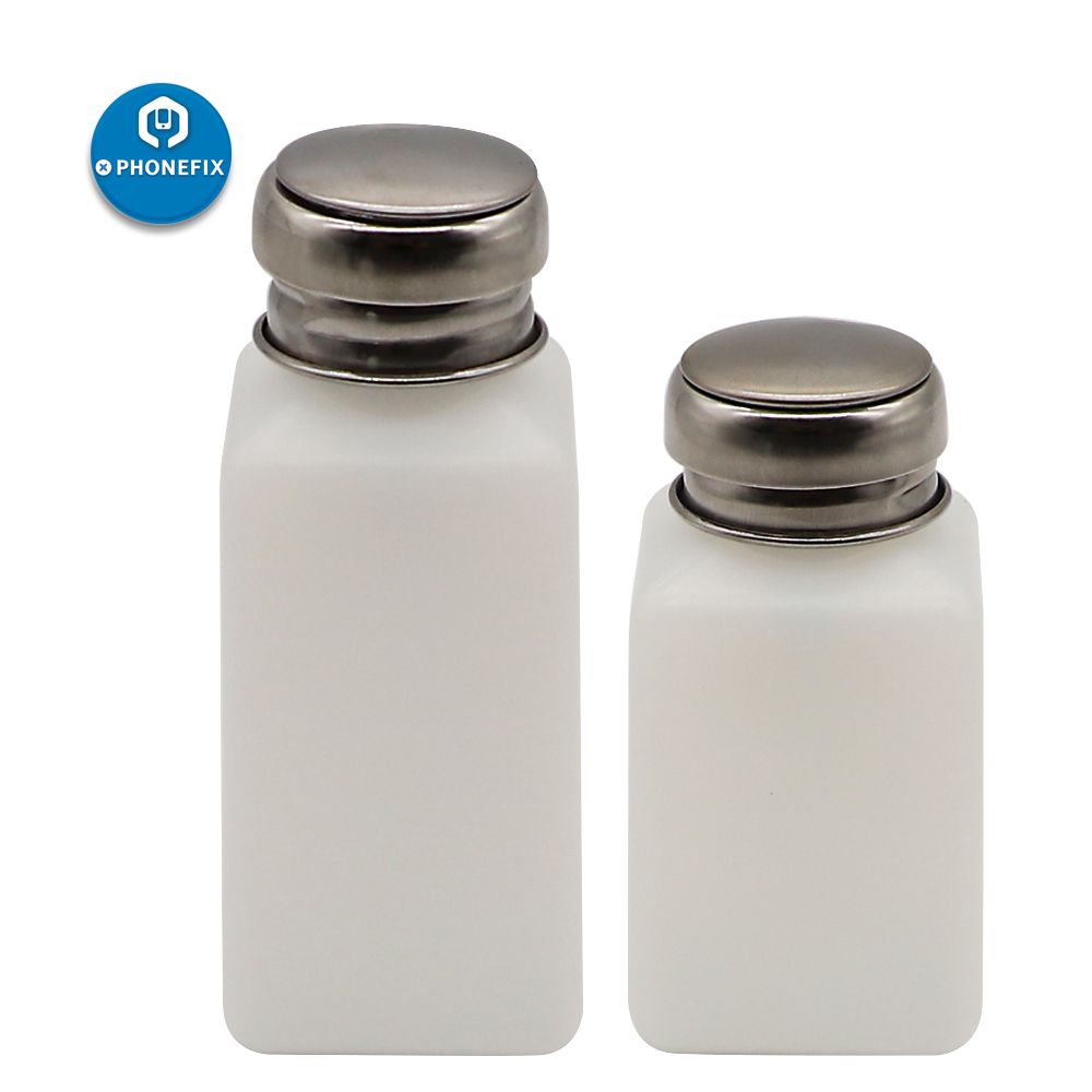 PHONEFIX 200ML/250ML Clean Anti Static Liquid Plastic Alcohol Bottle With Stainless Steel Bottle Cap For Mobile Phone Repair