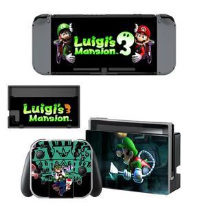 Image 2 - Luigi erkek Mansion 3 Nintendoswitch cilt Nintendo anahtarı çıkartmalar Nintendo anahtarı konsolu için Joy con denetleyici Dock Skins Sticker