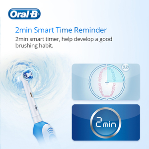 Image 4 - Oral B Sonic Electric Toothbrush 2 Min Timer 7600s Rotating Deep Clean Replaceable Brush Head Battery Vitality Tooth Brush