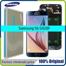 ORIJINAL 5.1 Süper AMOLED Yedek LCD S6 SAMSUNG GALAXY S6 G920 SM G920F G920F G920FD dokunmatik ekranlı sayısallaştırıcı grup