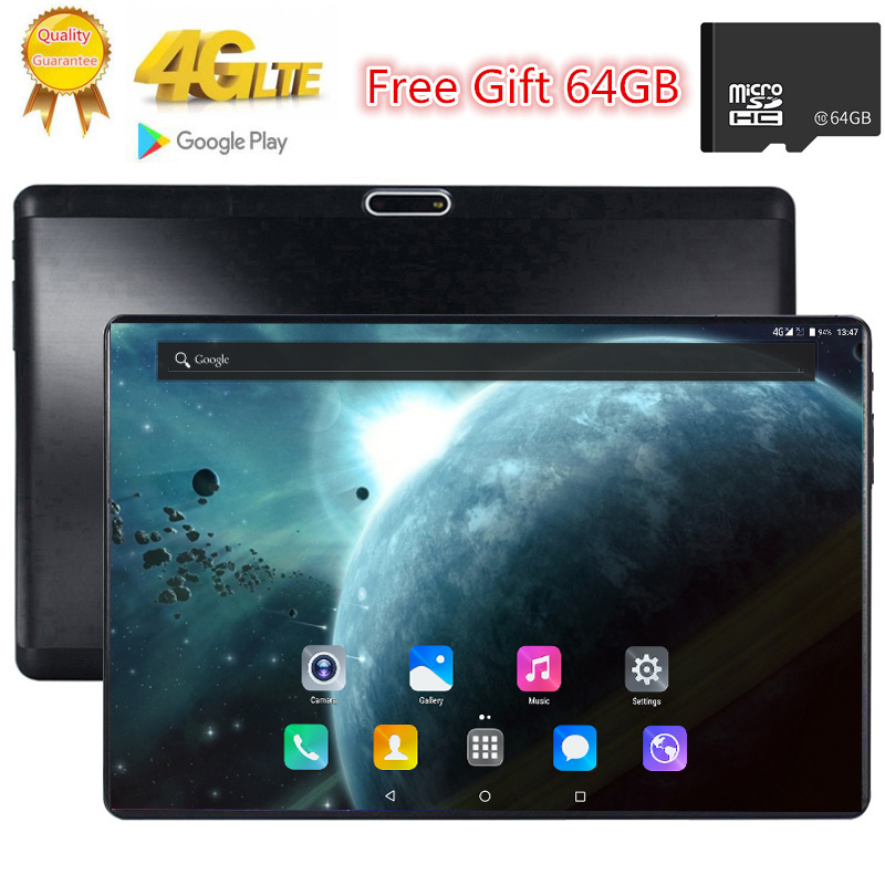 Free Gift 64GB TF Card Octa Core Tab S119 2.5D Tempered Glass Screen 10.1 Inch  3G 4G FDD LTE Tablet 3GB RAM Android 7.0 Tablets