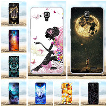 For Lenovo A536 A358T Cover Ultra Slim Soft TPU Silicone A 536 Case Lion Patterned Coque Capa