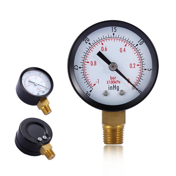 Vacuum Manometer Mini Dial Portable Dual Scale Dial Gauge TS-50-1 Vacuum Pressure Meter 2 Dial Digital Display Gauge
